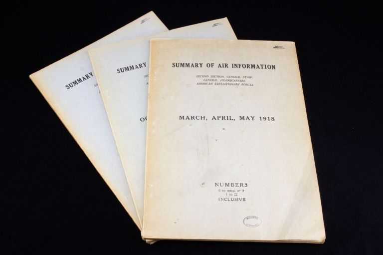 Summary of Air Information; Second section, General Staff. General Headquarters American Expeditionary Forces. United States Army.