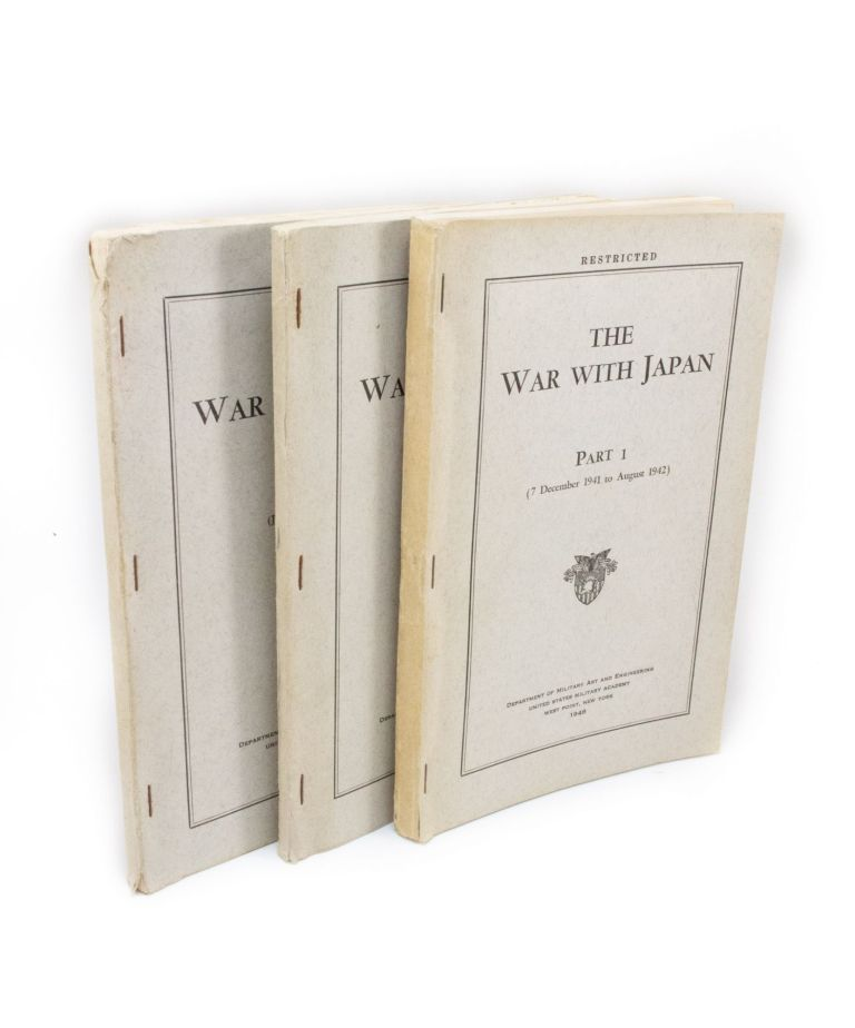 The War with Japan; (Complete set in three volumes). United States Army.