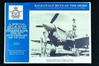 Balranald Boys of the Skies; A special AFC & RAAF edition to commemorate the 60th anniversary of...