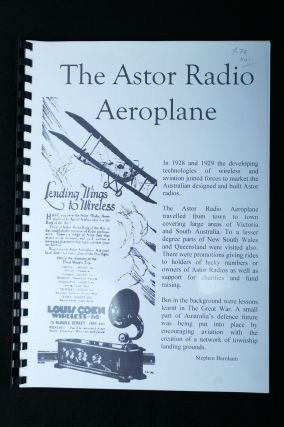 The Astor Radio Aeroplane. Stephen BARNHAM