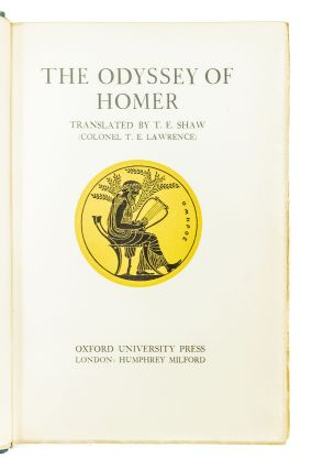 The Odyssey of Homer; Translated by T.E. Shaw (Colonel T.E. Lawrence)
